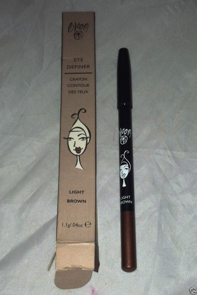 Bloom Eye Definer Crayon * LIGHT BROWN * Eye Liner Smooth Texture Aloe Vera BNIB