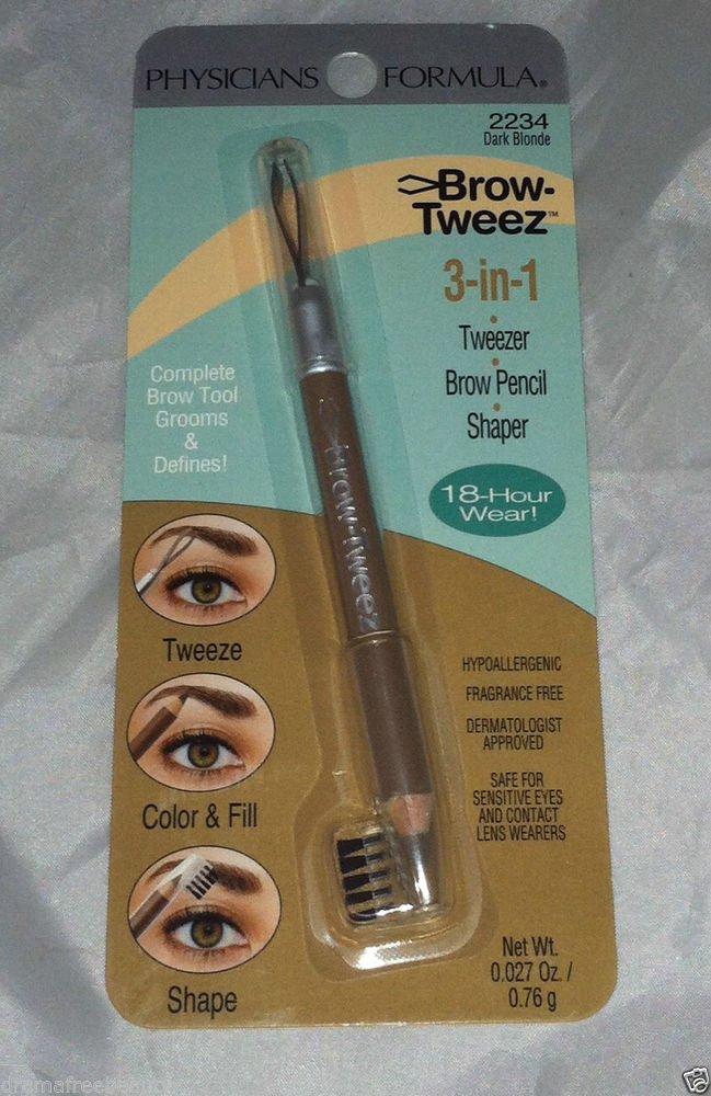 Physicians Formula Brow-Tweez 3-in-1 Tweezer/Brow Pencil/Shaper * DARK BLONDE *