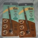 2 Physicians Formula Brow-Tweez 3-in-1 Tweezer/Brow Pencil/Shaper *LIGHT BROWN*