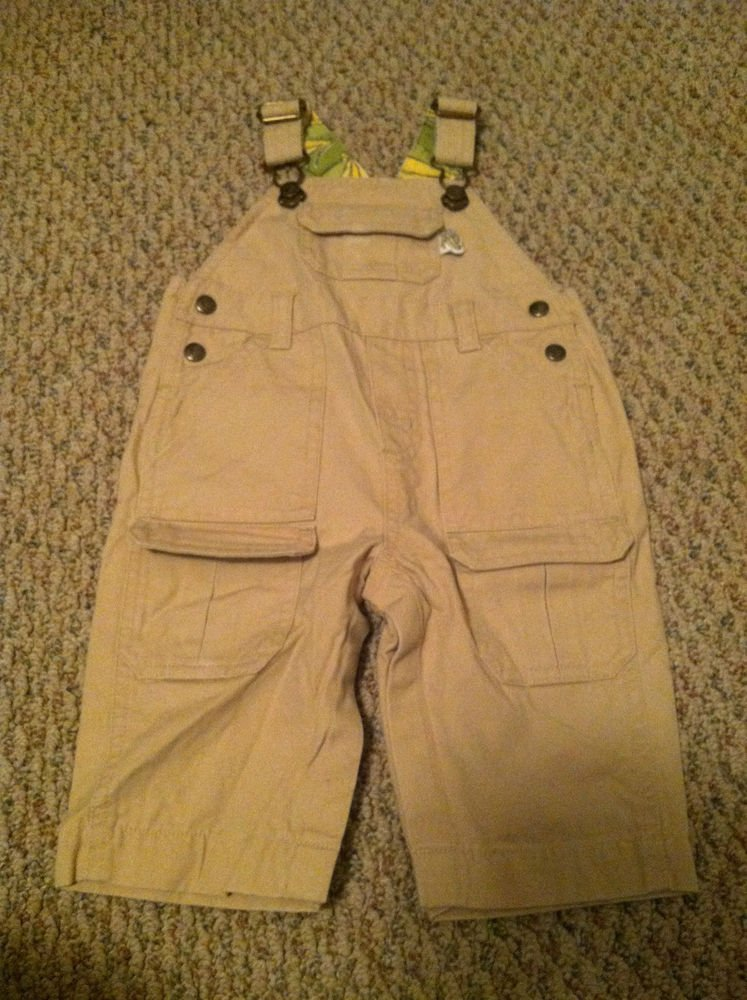Gymboree Boys/Toddlers 3-6 Month Khaki Overalls Never Worn