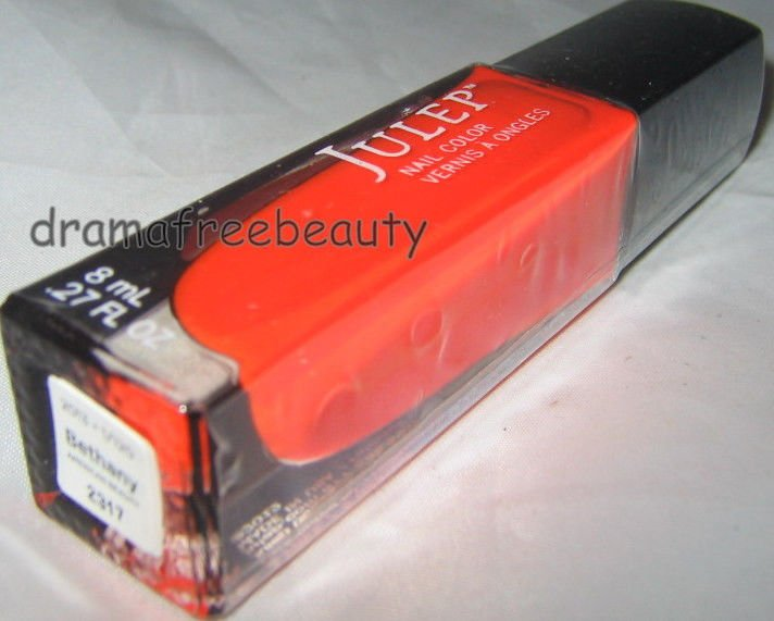 Julep Nail Color Polish *BETHANY* Electric Neon Orange Pink Creme B.New & Sealed
