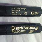 Clio Professional O'Tank Volume Mascara * No. 1 BLACK * 2pc Lot Brand New