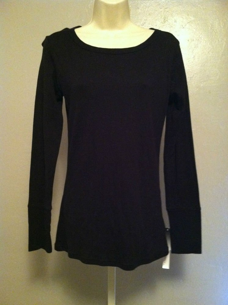 Womens Simply by E Black Long Sleeve Shirt/Top BNWT Size X-Large XL