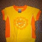 Nike Girls 2T Stretch Top Biking Style Yellow/Orange Heart design BNWT Shirt