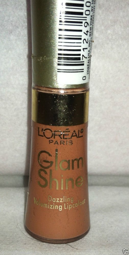 L'Oreal Limited Ed. Glam Shine Lip Gloss 002 *SEXY SOLEIL* Nude Brand New Sealed