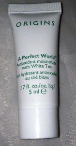 Origins A PERFECT WORLD White Tea Antioxidant Moisturizer .17oz/ 5ml Travel Mini