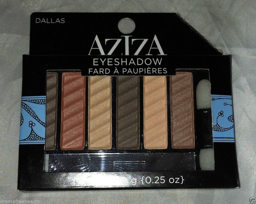 Aziza 6-Color Velvety Eyeshadow Palette *DALLAS* Neutral Nudes Brand New in Box