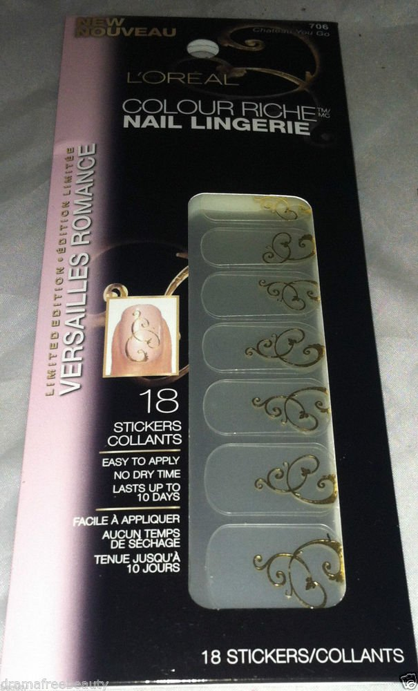 L'Oreal Colour Riche Nail Lingerie *707 LADIES IN WAITING* Silver Accent Swirl
