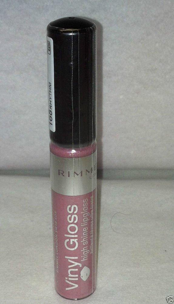 Rimmel Vinyl Lip Gloss * 168 RHYTHM * Sealed Brand New Shimmery Pink