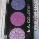 L.A. Colors 3 Color Eyeshadow Trio *IRIS* Purple, Pink &Plum Shimmer BN & Sealed
