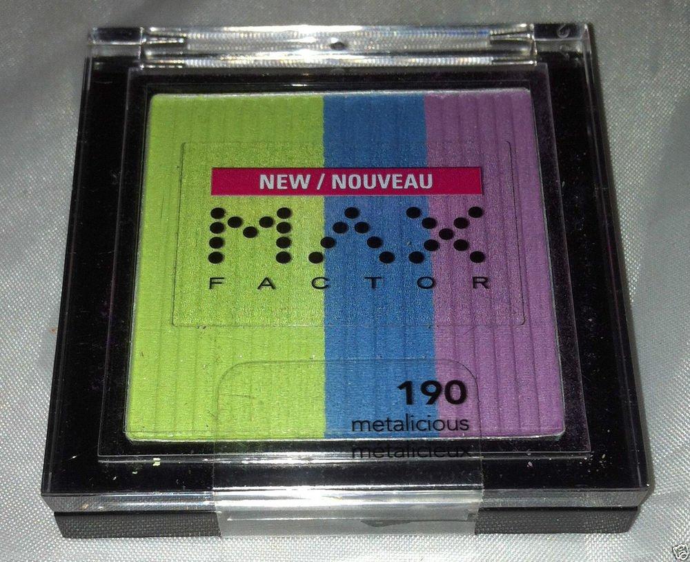Max Factor Trio Eye Shadow * 190 METALICIOUS * Bright Colors Long Wear New