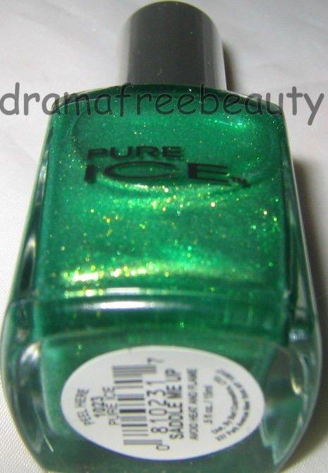 Pure Ice Nail Polish 1023 *SADDLE ME UP* Lime Green w/Gold & Lemon Shimmer B New