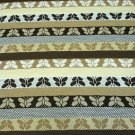 "Brown Stripe Butterflies/Honeycomb Pattern Stretch Knit Cotton Fabric 72"" X 62"""