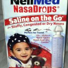 NeilMed NasaDrops 15ct Travel/On The  Go Saline/Nasal Aspiratior Combo BNIB
