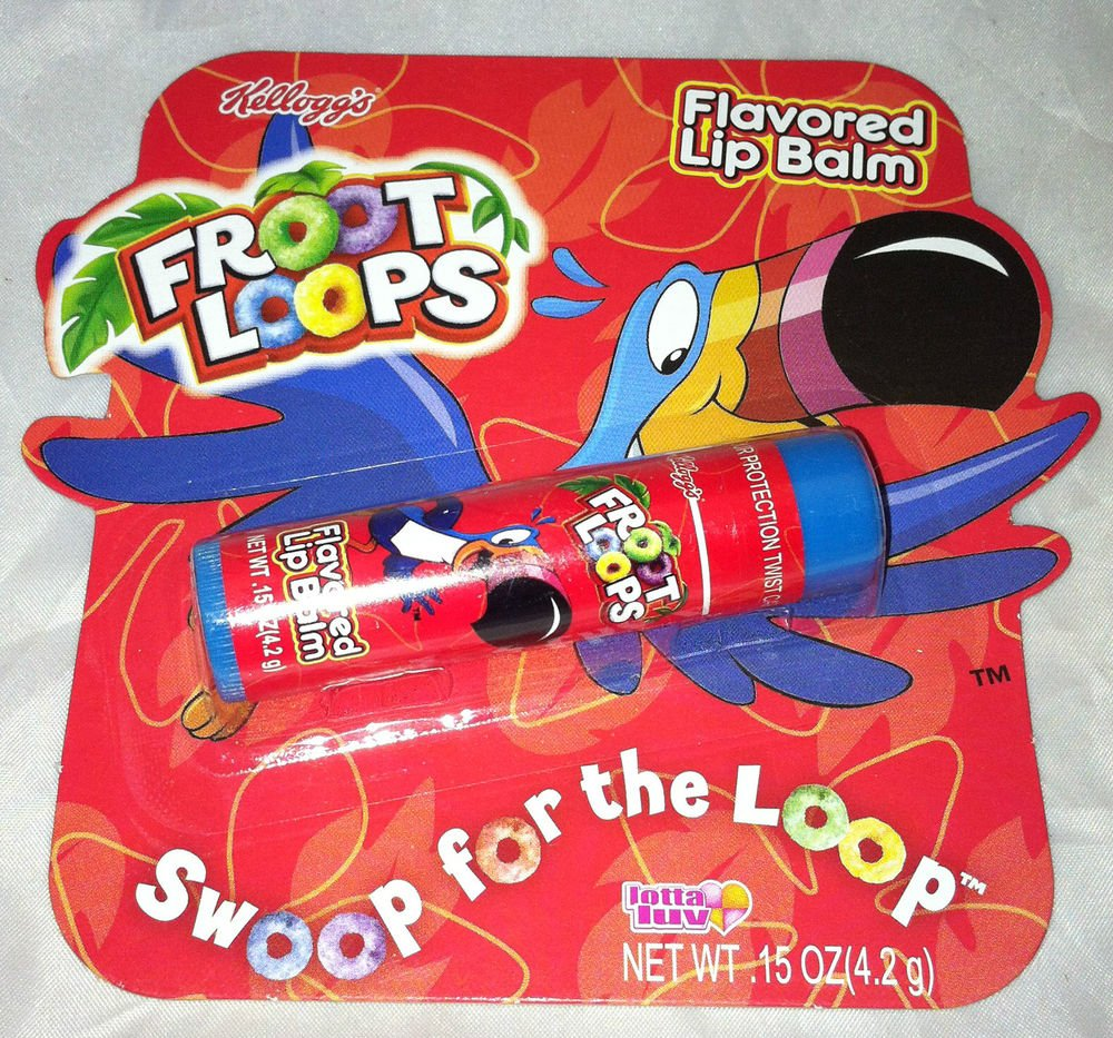 Kellogg's FROOT LOOPS Flavored Lip Balm Lotta Luv Sealed NEW