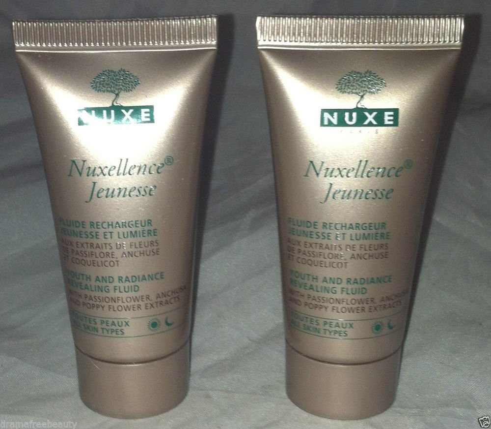 Nuxe Youth and Radiance Revealing Fluid All Skin Type 2pc Travel Lot 15mL Each