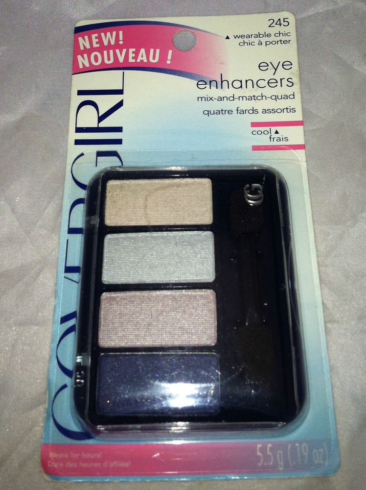 Cover Girl Eye Enhancers Eyeshadow Quad 245 *WEARABLE CHIC* Light Brown Blue NEW