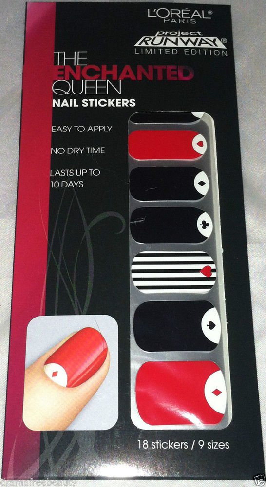 L'Oreal Project Runway Limited Edition Nail Stickers * ENCHANTED QUEEN * Suites