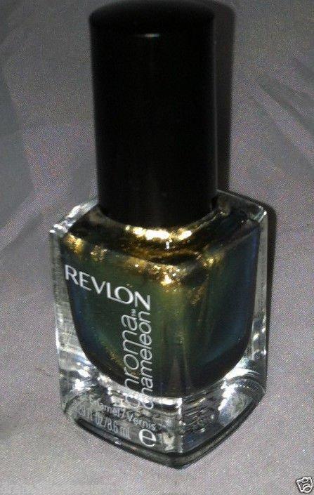 Revlon Chroma Chameleon Nail Polish Enamel *GOLD* Antique Olive Duo-Chrome BNew