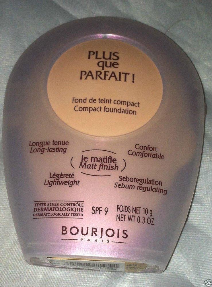 Bourjois Plus que Parfait Compact Matte SPF9 Foundation *43 ABRICOT* BNew Sealed
