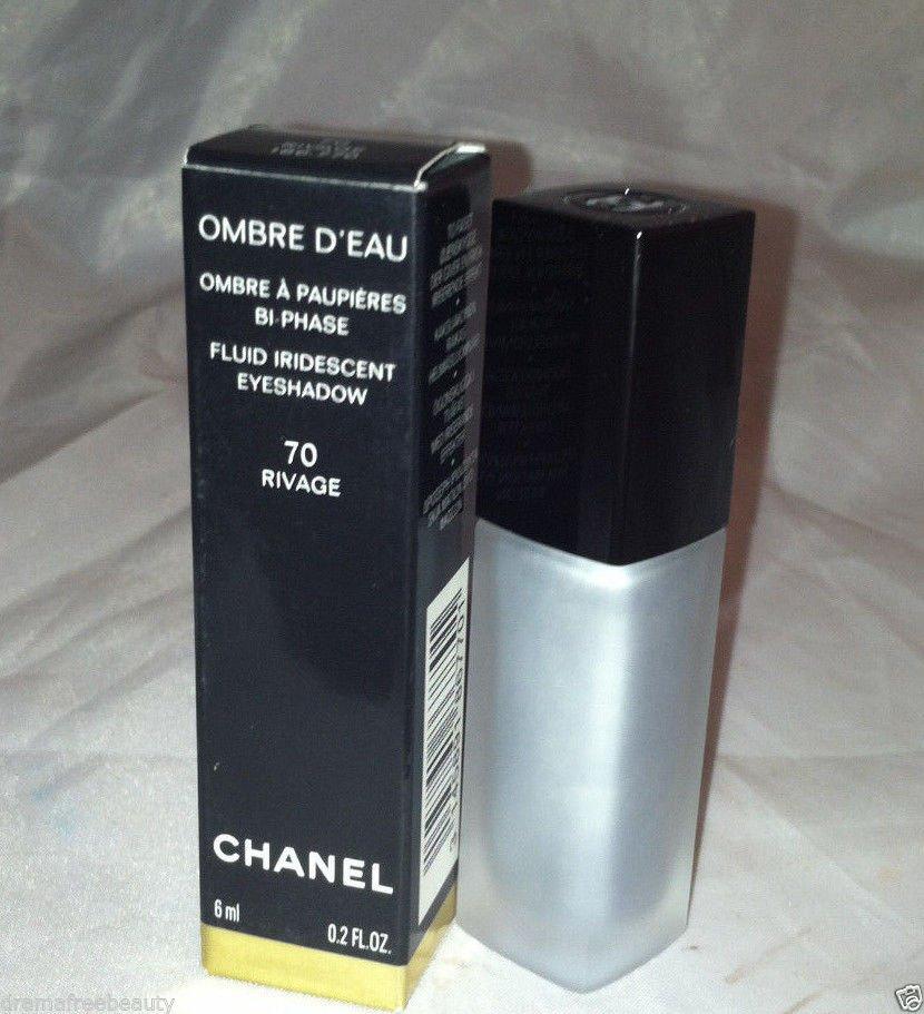 Chanel Ombre D' Eau Fluid Iridescent Eyeshadow 70 *RIVAGE* Shimmery Silver BNIB