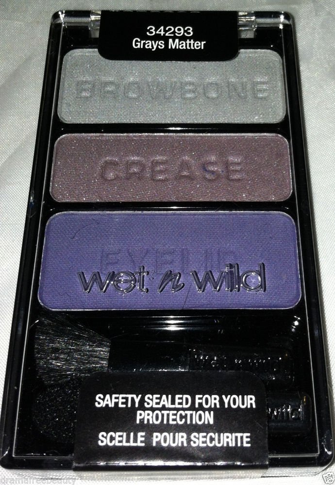 Wet n Wild Limited Edition ColorIcon Smoky Eyeshadow Trio 34293 * GRAYS MATTER *