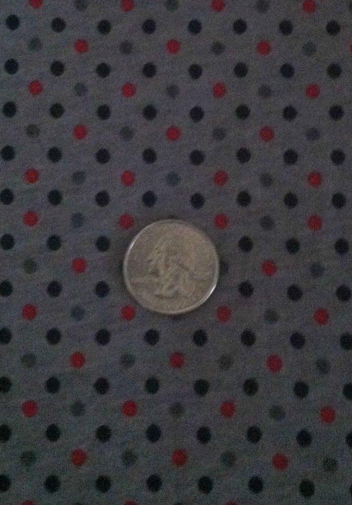 "Red/Black/Gray POLKA DOT Sewing Fabric ""BIG POKEY"" Knit Cotton Stretch Material"