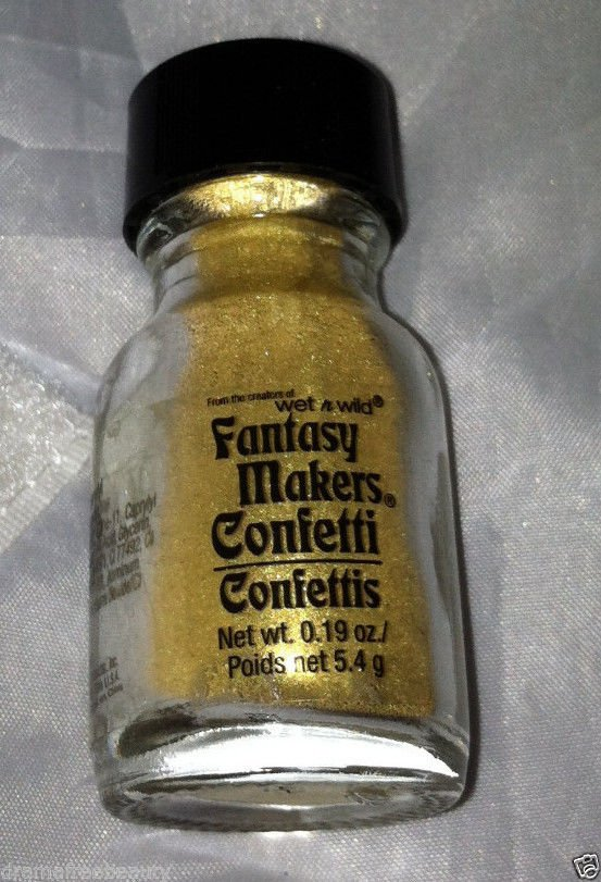 Wet n Wild Lmt Ed Fantasy Makers Confetti Pigment Powder *GLAMOUR* Metallic Gold