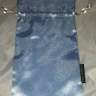 SEPHORA Light Blue Cosmetic / Makeup Carrying /Bag /Pouch Silky Feel   5X9