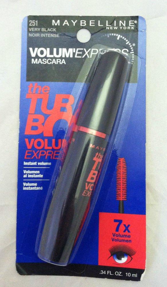 Maybelline Lash VOLUM'EXPRESS Mascara 251 Very Black Instant Volume 7X Sealed BN