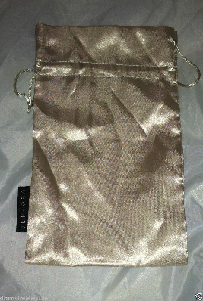 SEPHORA Golden Champagne Cosmetic / Makeup Carrying /Bag / Pouch  BIG 12X16