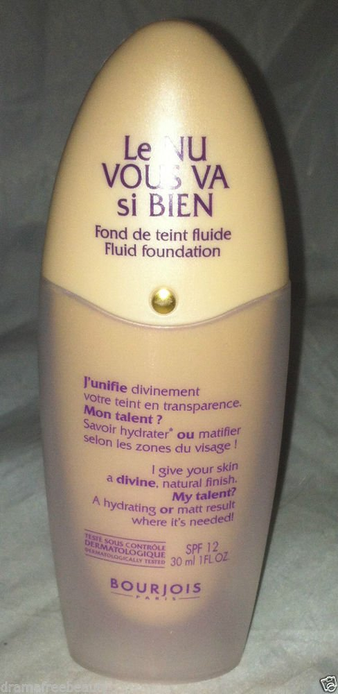 BNew Bourjois Plus Que Parfait Fluid/Liquid SPF 12 Foundation *52 IVORY* Sealed