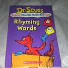 Scholastic Beginner Reading Flash Cards Dr. Seuss Rhyming Words Like New