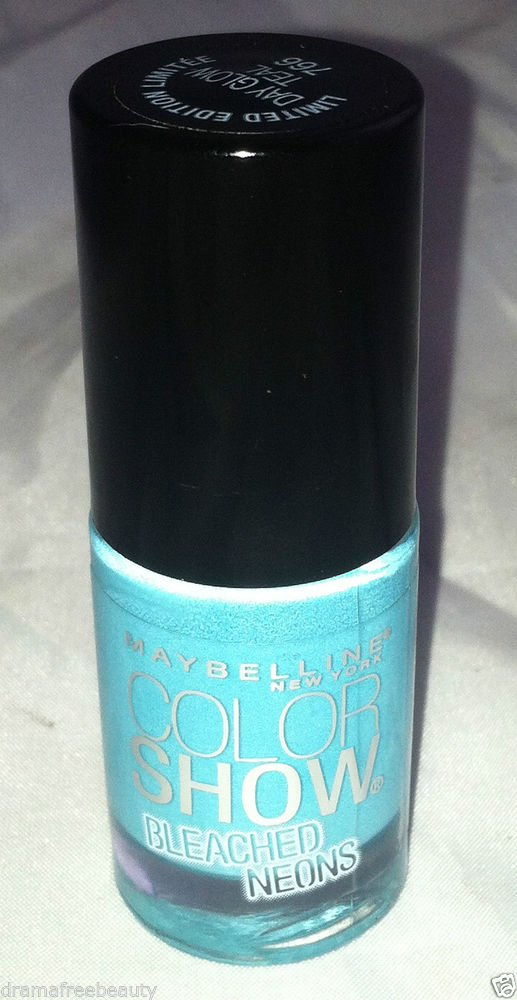 Maybelline Limited Ed. Color Show Bleached Neons Nail Polish *766 DAY GLOW TEAL*