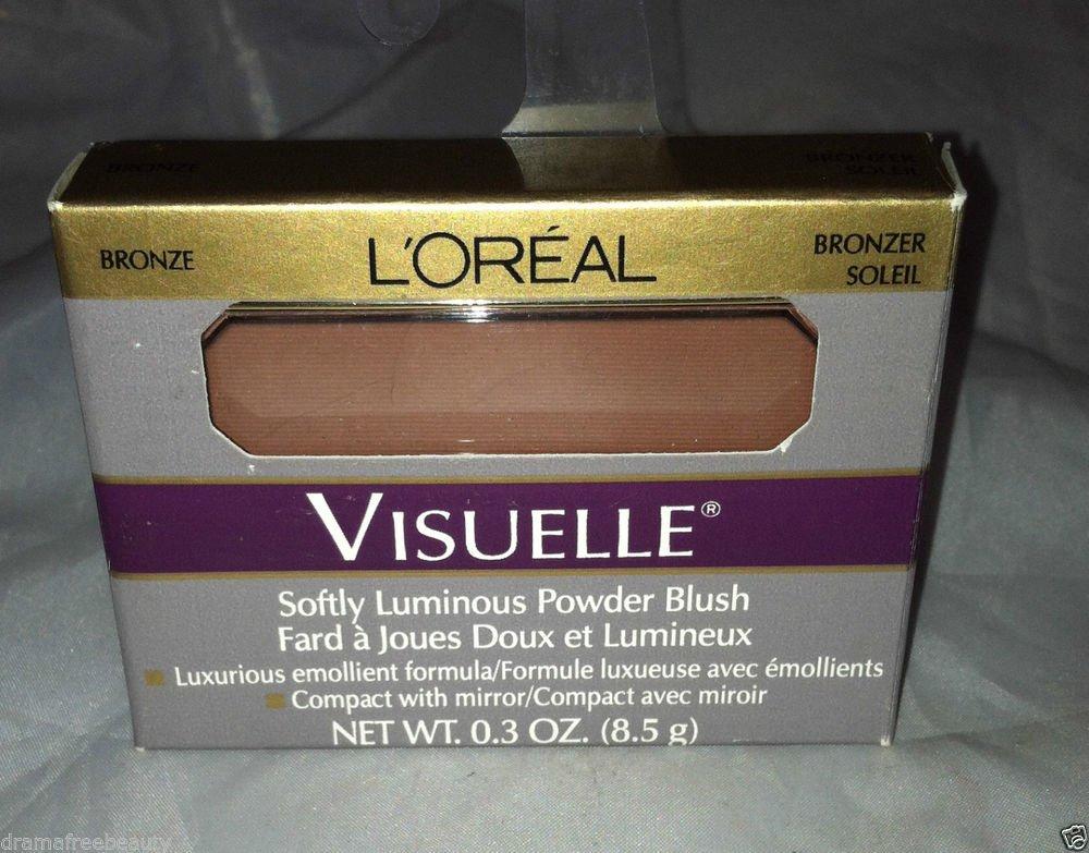 L'Oreal Visuelle Softly Luminous Powder Blush * BRONZER SOLEIL * BRONZE Compact