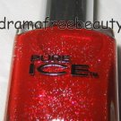 Pure Ice Lmt Ed Holiday Nail Polish *NEW YEARS RESOLUTION* Red/Silver Glitter BN