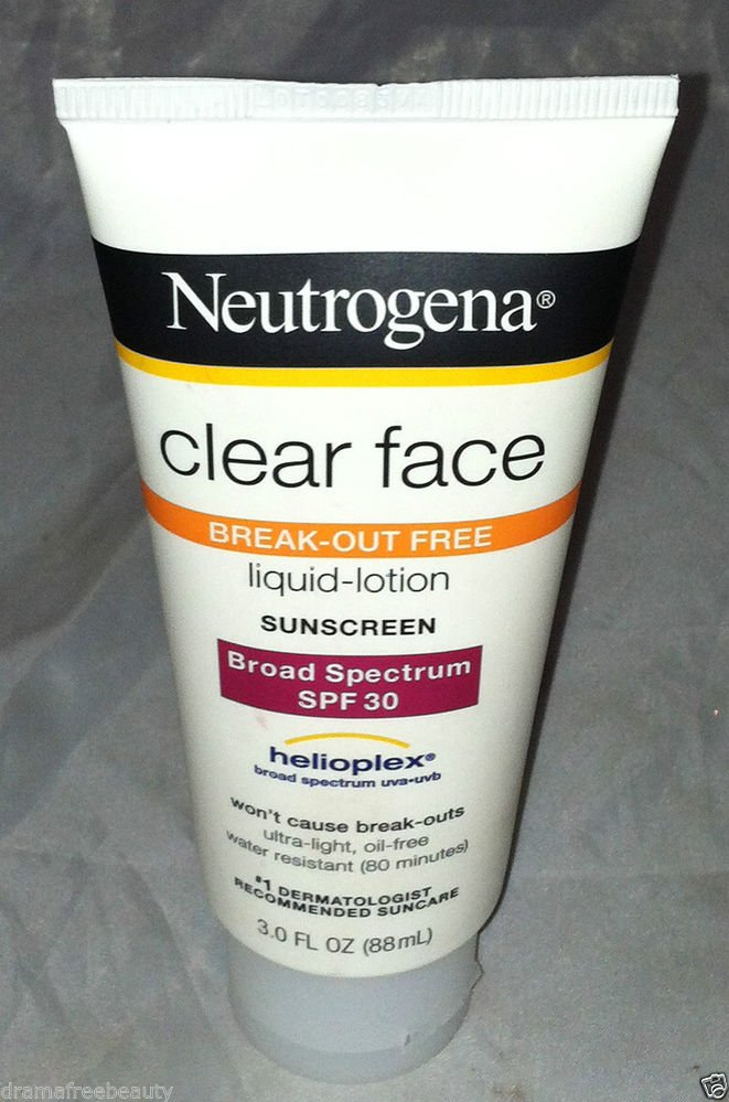 Neutrogena Clear Face Liquid-Lotion Sunscreen SPF 30 Helioplex Water Resistant