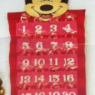 """Minnie Mouse Christmas Advent 24 Day Calendar 19"""" Long Filled w/Mini Candy Canes"""