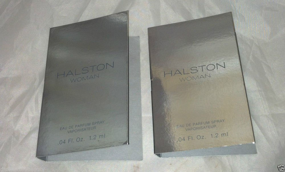 Halston Eau De Parfum * WOMAN * 2pc Travel/Sample Lot Brand New Carded