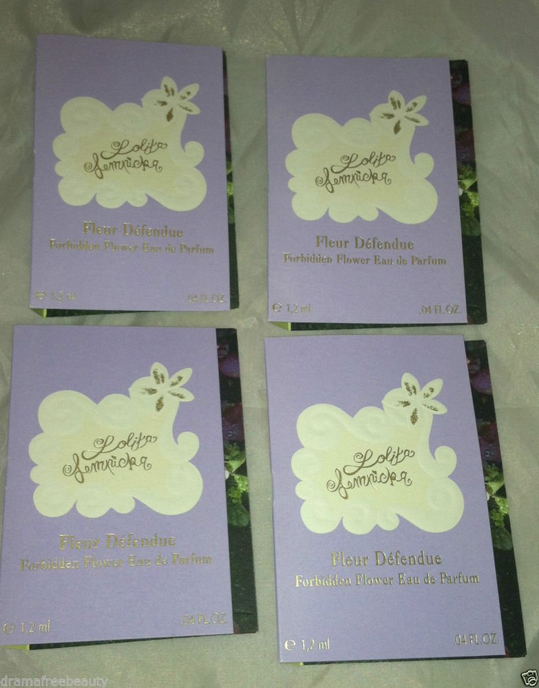 Lolita Lempicka Eau De Parfum * FLEUR DEFENDUE/FORBIDDEN FLOWER * 4pc Travel Lot