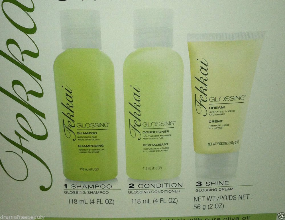 Fekkai Glossing Starter Set  Shampoo/Conditioner/Glossing Cream Brand New In Box