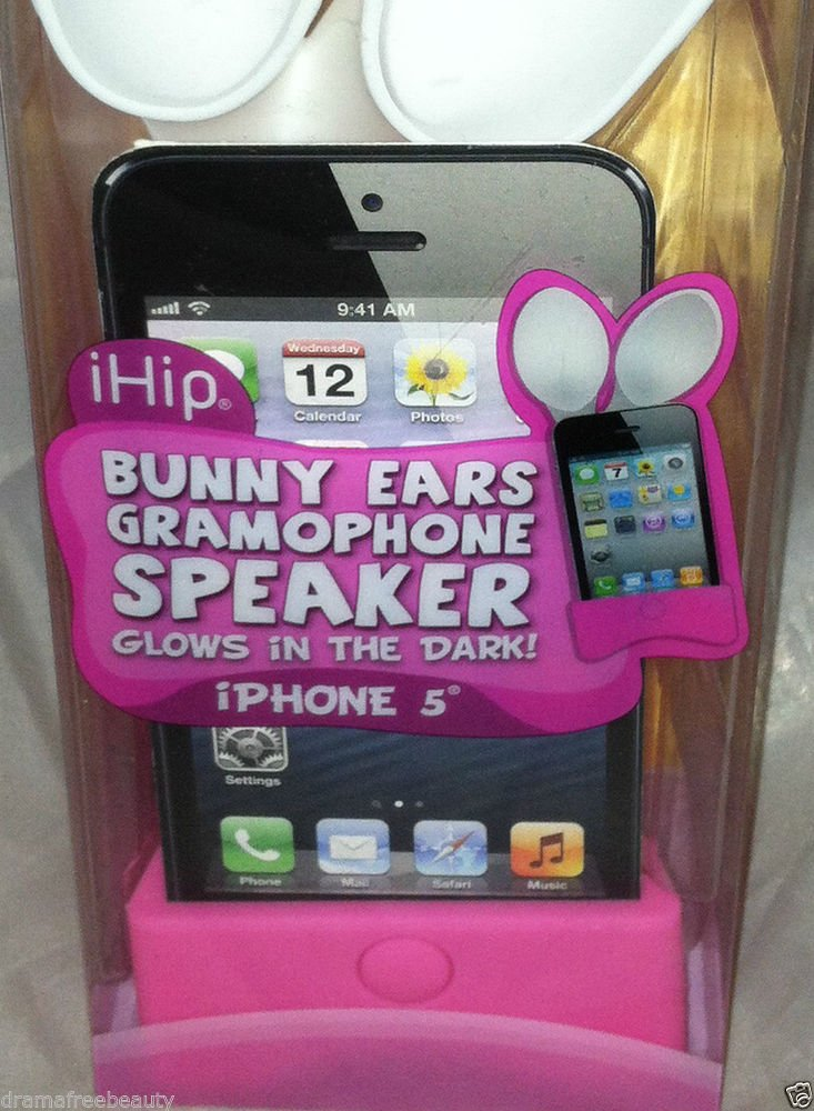 iHip Bunny Ears Iphone 5 Gramophone Glows In The Dark Brand New In Box