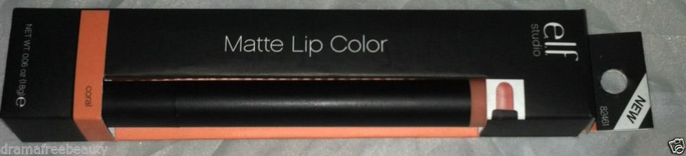 Elf Matte Long Lasting Lip Color Pencil/Lipstick * CORAL * Soft Matte Peach BNIB