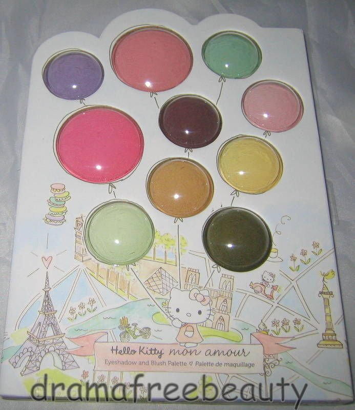 HELLO KITTY Limited Ed. Paris *MON AMOUR* Eyeshadow & Blush Balloon Palette BNIB