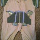 b.t. Kids Boys/Infant 3-6 months One-piece/Onesie/Body Suit Dinosuar Waffle kni