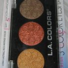 L.A. Colors 3 Color Eyeshadow Trio *SUNFLOWER* Bronze, Copper, Gold BN & Sealed