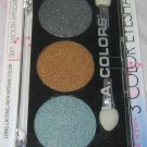 L.A. Colors 3 Color Eyeshadow Trio * SAND DUNE * Gray, Bronze & Silver/Blue BNIP