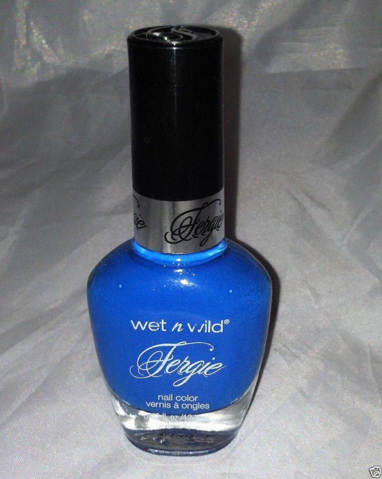 Wet n Wild FERGIE Limited Edition Nail Polish *CABO CRUISE* Blue w/Aqua Shimmer