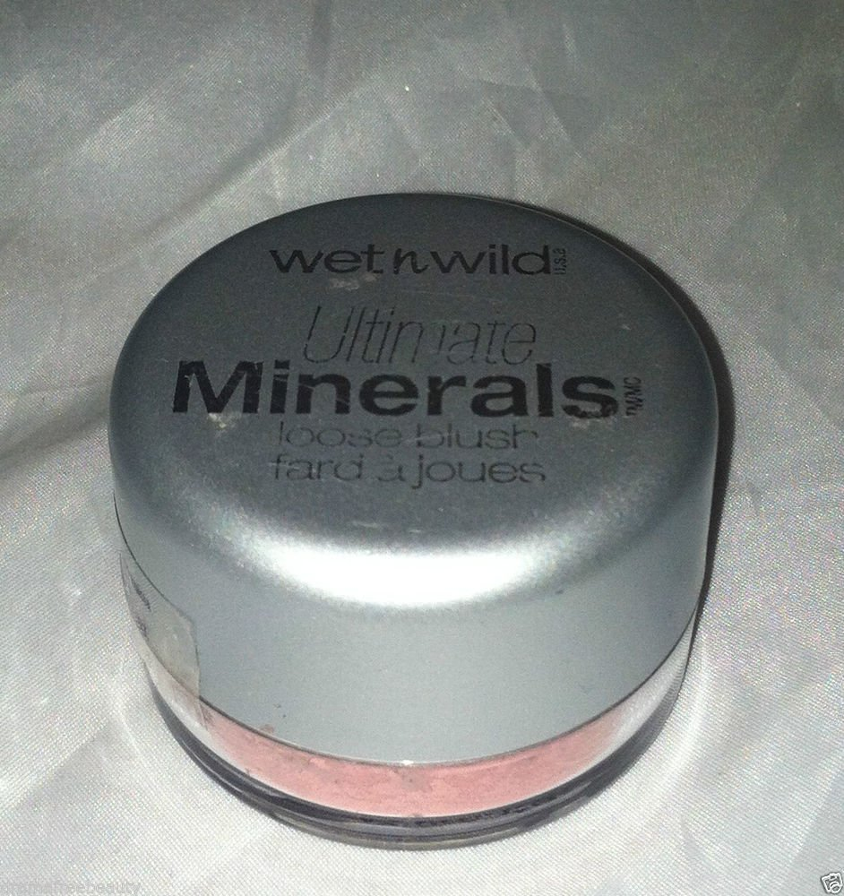 Wet n Wild Ultimate Minerals Loose Powder Blush * 165 BARELY PEACH * Sealed New