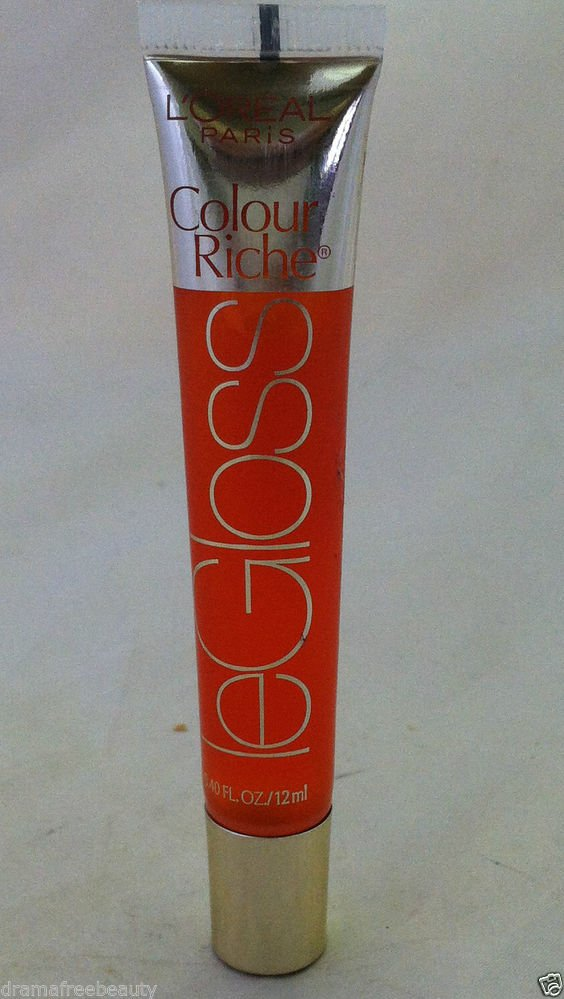 L'Oreal Colour Riche LeColor Lip Gloss * 652 ORANGE CREAMSICLE * Sheer Orange